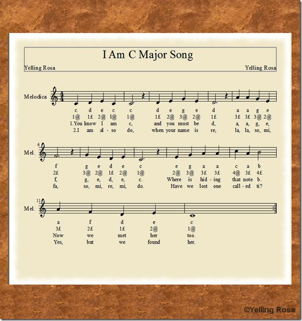 I Am A C Major Song E01SmallerSG